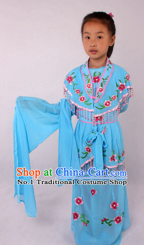 Chinese Beijing Opera Peking Opera Hua Tan Costumes Complete Set for Kids