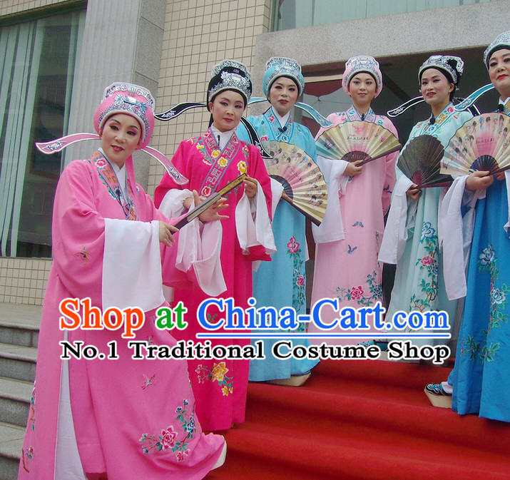 Chinese Opera Costumes National Costume Xiao Sheng Costumes and Hat Complete Set