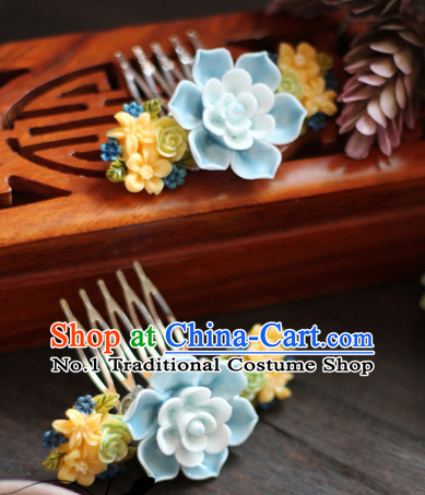 Chinese Traditional Handmade Flower Side Hair Accessories for Girls