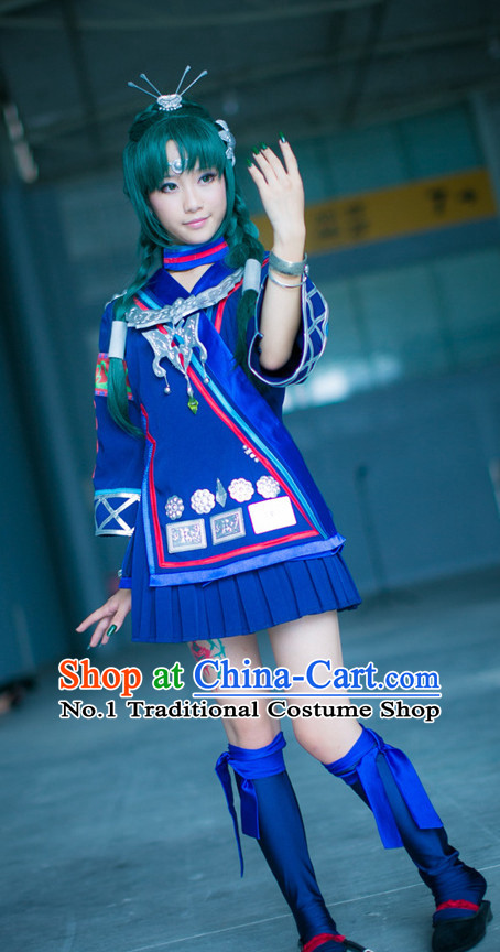 Asia Fashion Top Chinese Ethnic Cosplay Halloween Costumes Complete Set