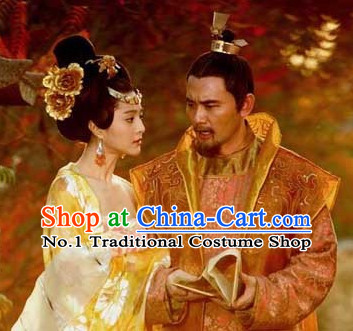 Chinese Empress Hair Accessories and Emperor Hat Complete Set