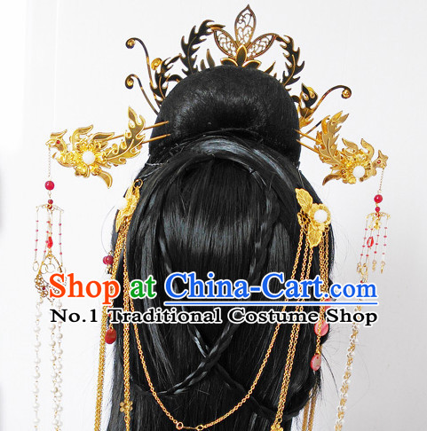 Chinese ancient hair accessories costumes accessory headpiece hair pieces ornaments hairpins ornament wigs wig
