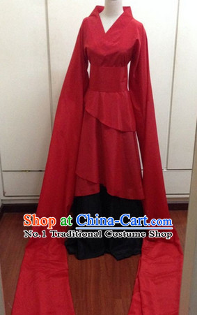 Chinese Classical Long Water Sleeve Dance Costume for Women