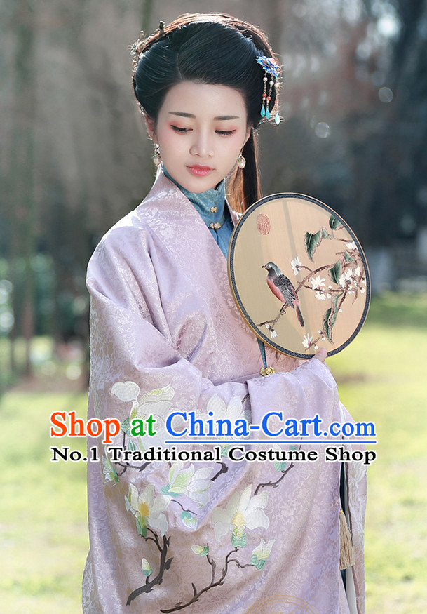 Chinese Ancient Rich Women Clothing and Hair Jewelry Complete Set
