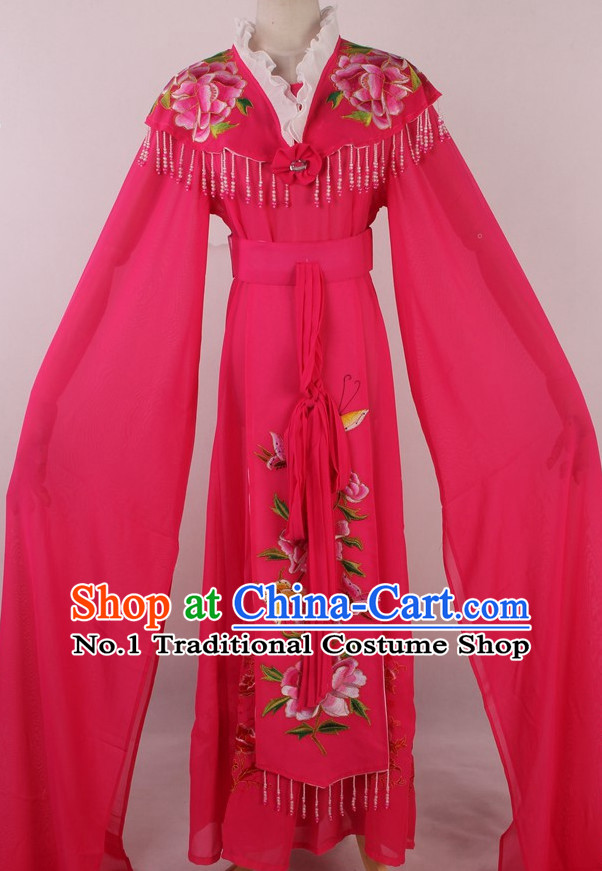 Chinese Traditional Dresses Theatrical Costumes Ancient Chinese Hanfu Water Sleeves Costumes for Girls