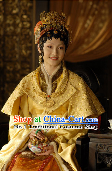 China Dream of Red Chamber Jia Baoyu Costumes and Hair Jewelry Complete Set for Women