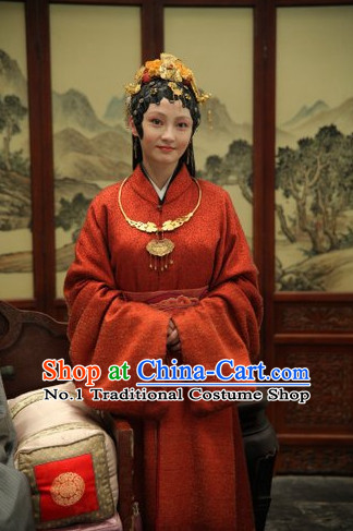 China Dream of Red Chamber Jia Baoyu Costume and Hair Jewelry Complete Set for Women