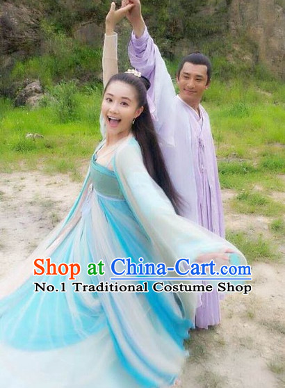 Chinese Hanfu Asian Fashion Japanese Fashion Plus Size Dresses Vntage Dresses Traditional Clothing Asian Costumes Hua Qian Gu Costume for Girls