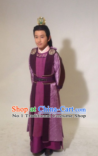 Traditional Chinese Prince Clothing and Crown Complete Set for Men