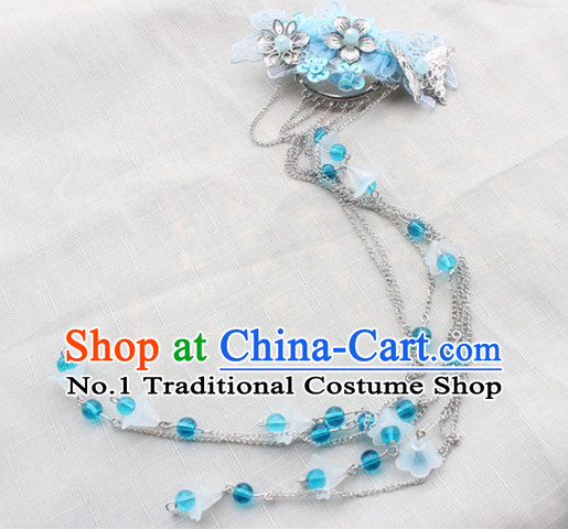 Chinese hair accessories hair ornaments headbands hair accessory ancient headpiece headpieces long ribbon