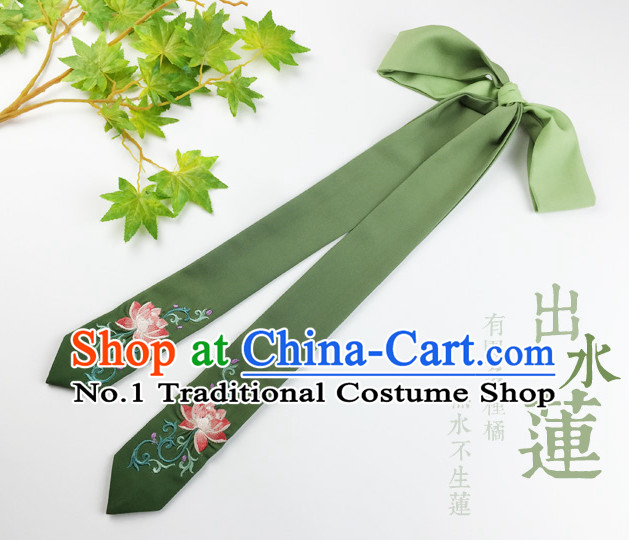 Green Handmade Chinese Traditional Hair Band Hair Bands Headbands for Girls