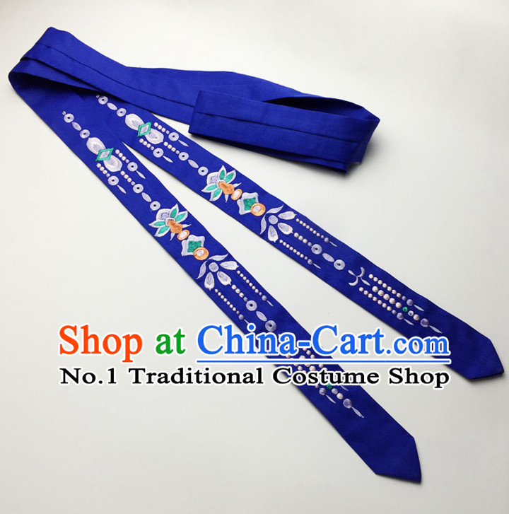 Blue Handmade Chinese Traditional Hair Band Hair Bands Headbands Hair Decorations for Women