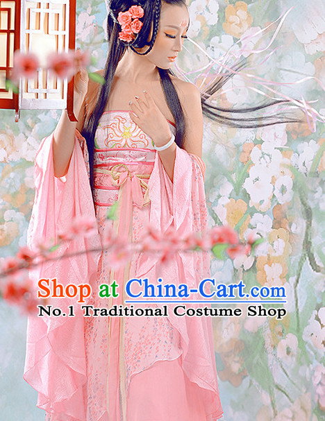 Chinese Halloween Cosplay Princess Costumes and Hair Ornaments Complete Set for Women