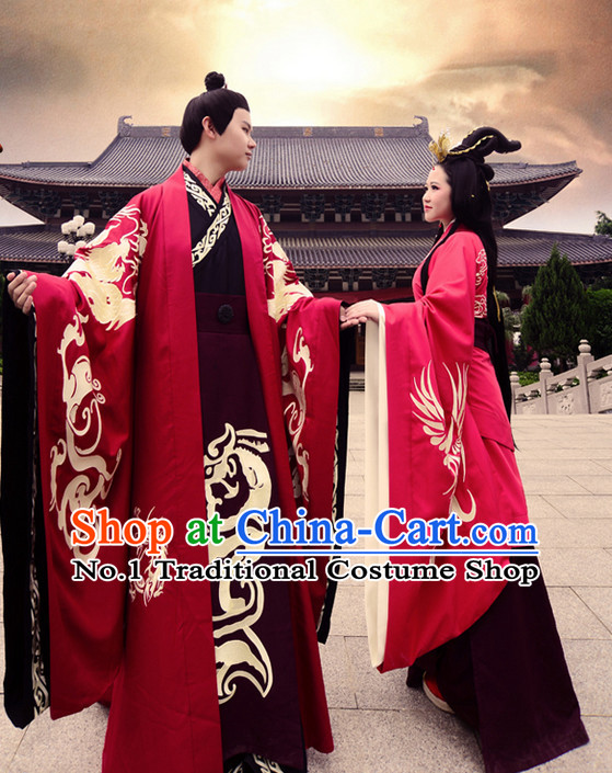 Ancient Chinese Traditional Bridal Wedding Ceremonial Dresses Complete Set for Men