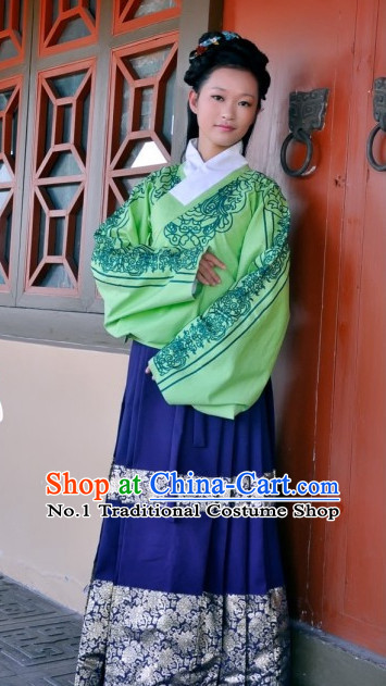 Chinese Ancient Ming Dynasty Garment Clothes Complete Set for Women