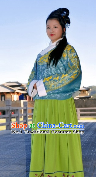 Chinese Ancient Ming Dynasty Garment Suit Complete Set for Women