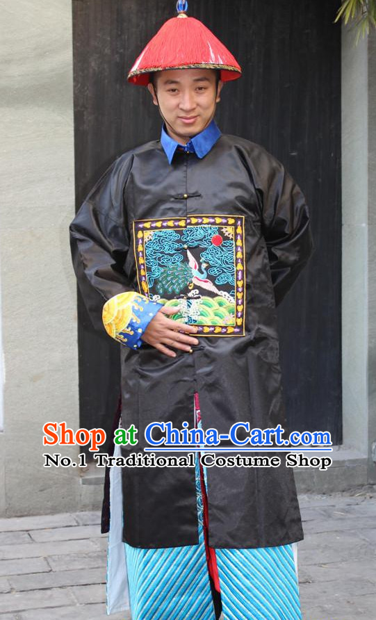 Chinese Ancient Official Costumes and Hat Complete Set for Men