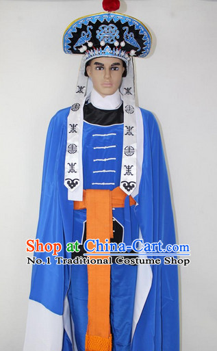 Chinese Ancient Revolutionary Costumes and Hat Complete Set for Men