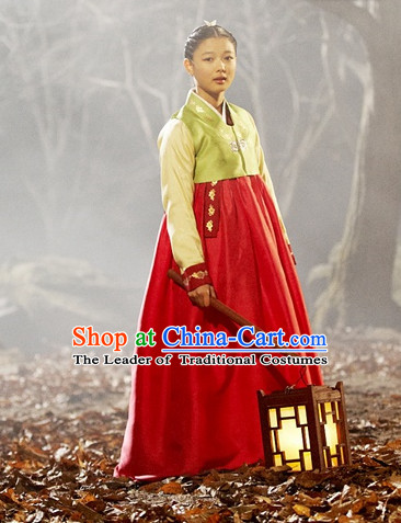 Ancient Korean Palace Princess Clothing and Hair Accessories Complete Set for Women