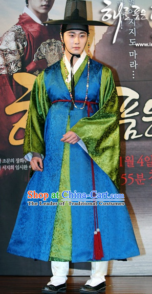 Ancient Korean Gentleman Costume and Hat Complete Set