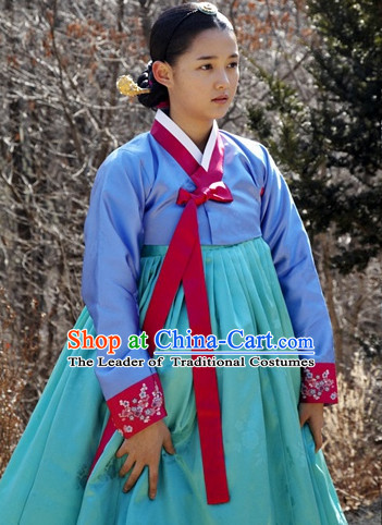 Ancient Korean Hanbok Clothes for Girls