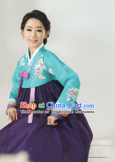 Made to Order Korean Fashion Hanbok and Hair Accessories Complete Set for Ladies