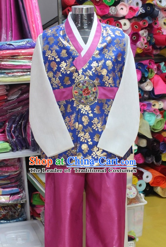 Plus Size Korean Fashion Hanboks and Hair Accessories Complete Set for Men