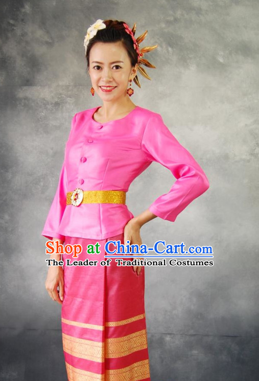 Thailand Traditional Clothing and Hair Accessories Complete Set