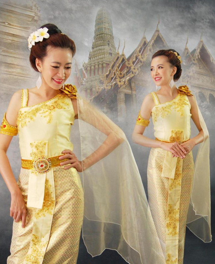Thailand National Costume Complete Set for Women