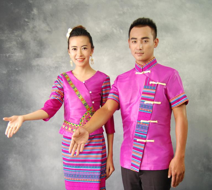 Thailand Traditional National Dresses Complete Set for Men and Women