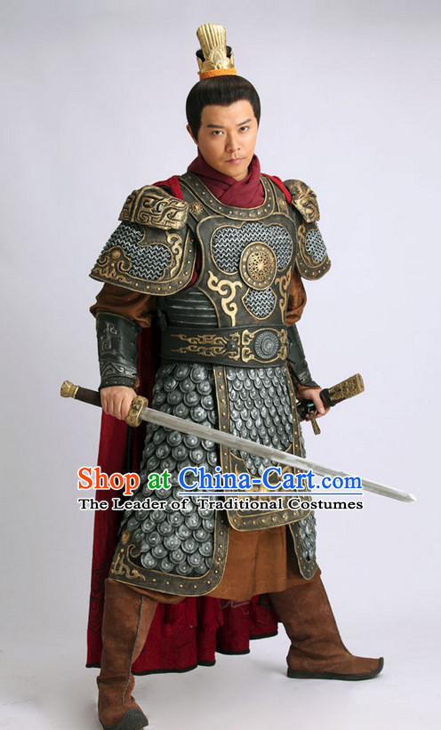 Chinese Ancient Superhero Costume and Helmet Complete Set