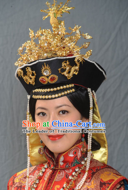 Chinese Ancient Imperial Empress Wedding Phoenix Hat