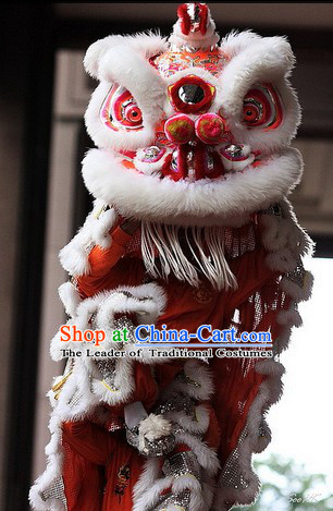 100% Natural Wool Hok San Lion Dance Equipment Complete Set