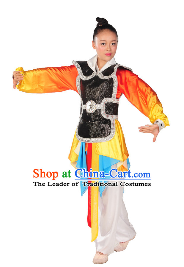 China Classic Heroine Armor Style Dance Costume