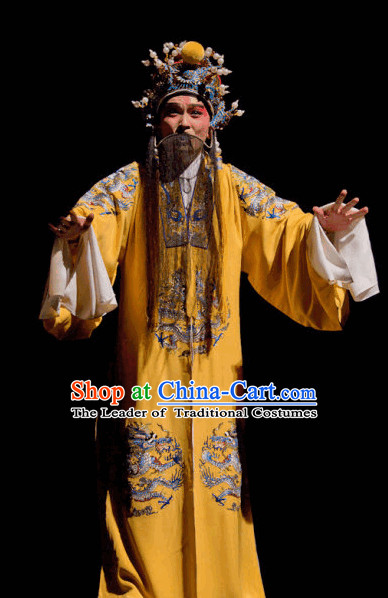 Ancient Chinese Opera Emperor Costume and Hat