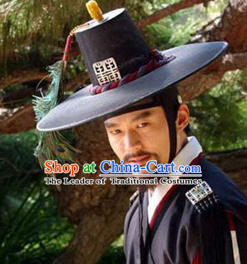 Black Korean Feather Hat