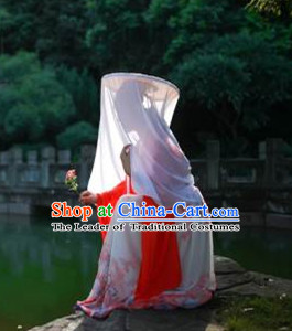 Handmade Chinese Tang Dynasty Princess Style Bamboo Hat with Veil