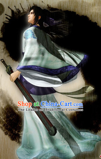 Chinese Cosplay Halloween Costumes for Swordsman
