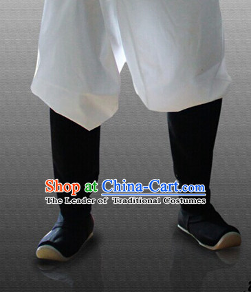 Ancient Style High Toe Black Long Boots for Men or Women