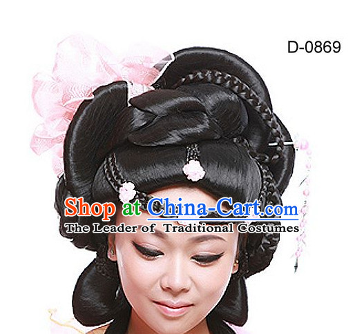 Chinese Ancient Empress Hair extensions Wigs Fascinators Toupee Hair Pieces Long Wigs for Women