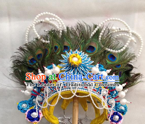 Ancient Chinese Opera Cantonese Opera Emperor Peacock Hat