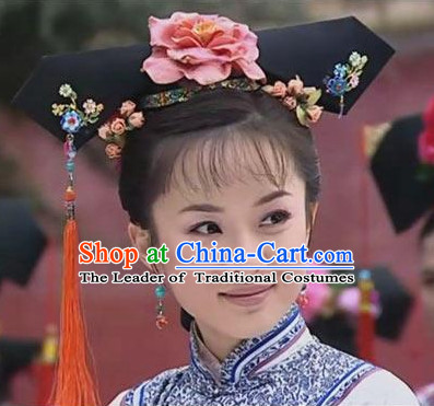 Qing Dynasty Palace Lady Manchu Hair Accessories