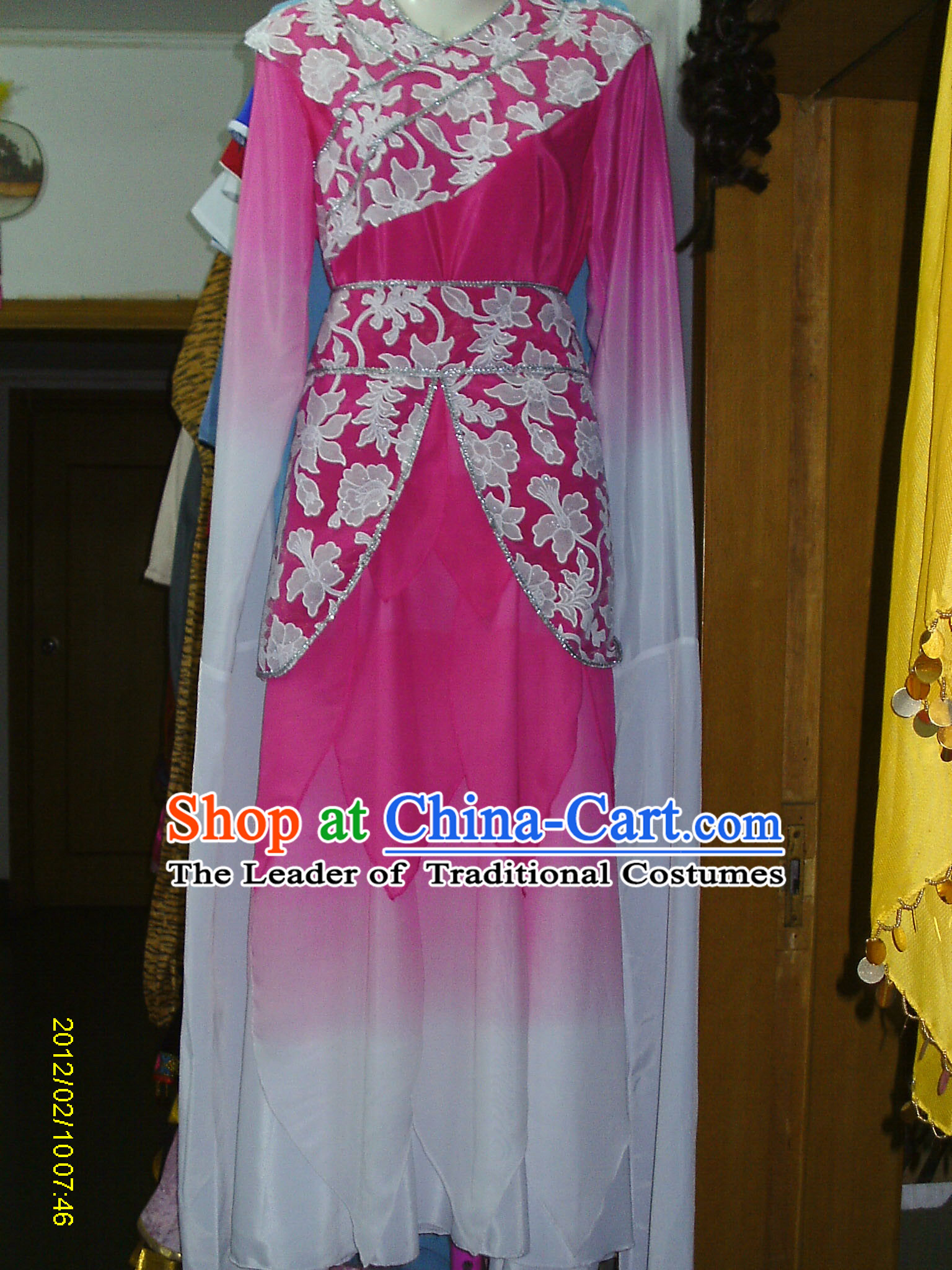 Water Sleeves Chinese Classic Dance Costume Competition Costumes Set