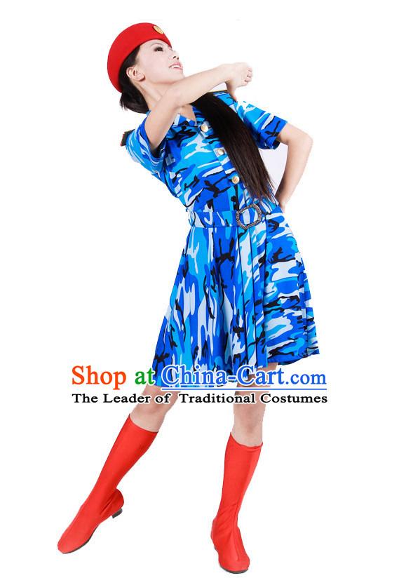 10526e617e24 China Army Dance Costume Ideas Dancewear Supply Dance Wear Dance Clothes  Suit