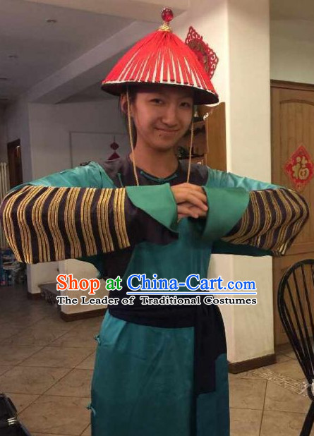 Qing Dynasty Bodyguard Costumes and Hat Complete Set