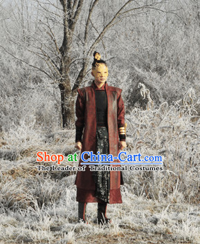 Ancient Chinese Swordsman Costume and Mask Set