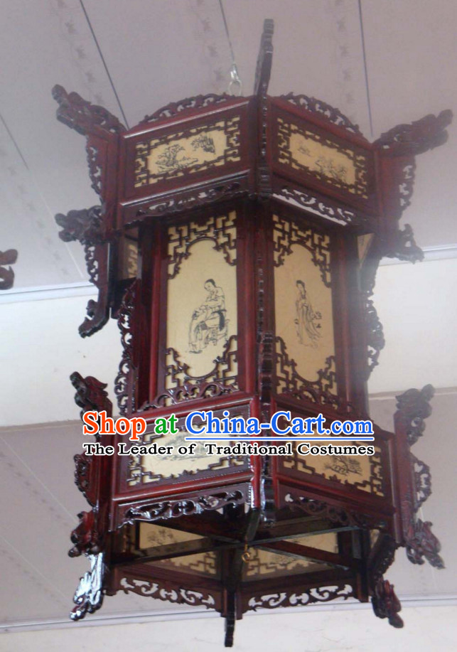 Ancient Chinese Imperial Style Three Layers Traditional Palace Lantern