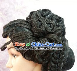 Chinese Ancient Beauty Wig Female Hairstyle Long Black Wigs