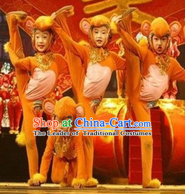 Chinese Lunar Monkey Year Dance Costumes for Kids or Adults