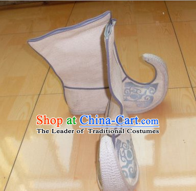 Ancient Chinese Handmade Embroidery Boots Shoes